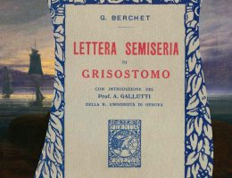 Lettera semiseria di Grisostomo al suo figliolo, Giovanni Berchet